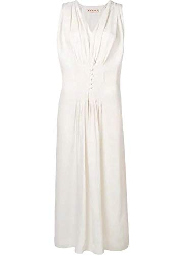 Marni Women's Abma0170q0tv670y5378 White Viscose (Marni Women Dresses)