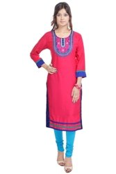 Vihaan Impex Tunika Damen Kleidung Damen Indische Kleidung Kurta Damen Indische Tunika Damen Tunika VIKU2367