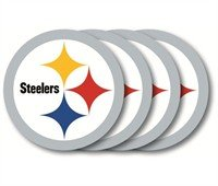 Pittsburgh Steelers Coaster 4 Pack Set (Steelers Coaster Set Pittsburgh)