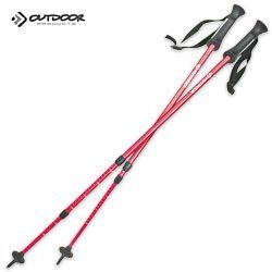 Outdoor Products Trekking Pole Set, China Red, Outdoor Stuffs