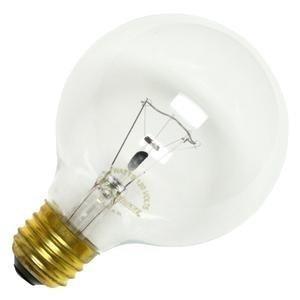 Bulbrite 25G25CL2 25W G25 Globe 120V Medium Base Light Bulb, Clear