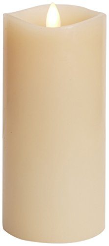 Luminara Flameless Candle: 360 Degree Top, Vanilla Scented Moving Flame Candle with Timer (6