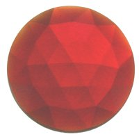 Stained Glass Jewels - 25mm Round Faceted - Red By Stallings Stained Glass Round Faceted Glass Jewels