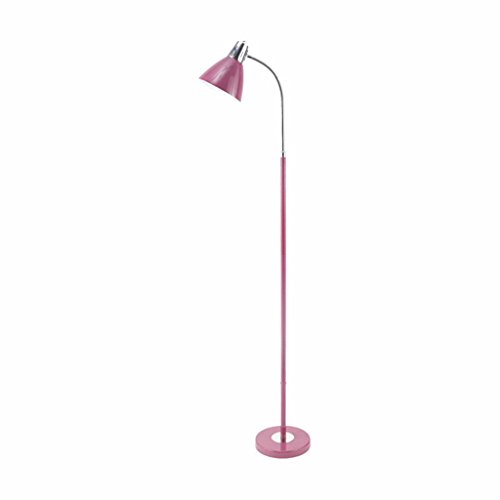 Floor Lamps YXGH- Eye Protection LED Living Room Study Bedroom Bedroom Bedside Lamp Simple Writing Vertical Reading Lights Vertical light fixture (Color : Purple) by Floor Lamps