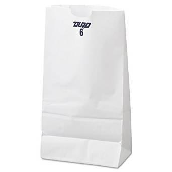 4 Lb White Paper Bags - 7