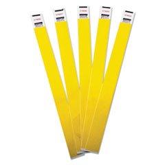 Advantus Tyvek Wristbands, AVT75444, Yellow, Tyvek, Pack of 100