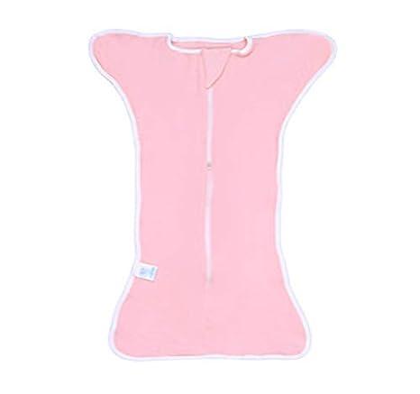 100/% algod/ón Manta el/ástica para dormir para ni/ños reci/én nacidos # 3216 rosa rosa Talla:Middle 0-3 months suave y transpirable Baby Swaddle Up