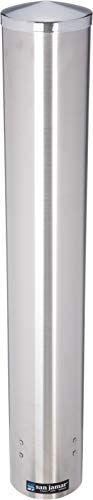 (San Jamar C4200PF Stainless Steel Pull Type Foam Beverage Cup Dispenser, Fits 4oz to 10oz Cup Size, 2-3/4