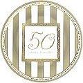 "50th Gold Anniversary Wishes 7"" Metallic Plate"