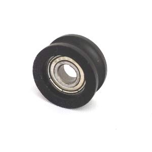 Pulley U-Groove Track Ball Bearings Standard VXB Brand 5mm Bore Bearing with 26mm Round Nylon Pulley U Groove Track Roller Bearing 5x26x13mm Type Metric Size 5mm x 26mm x 13mm