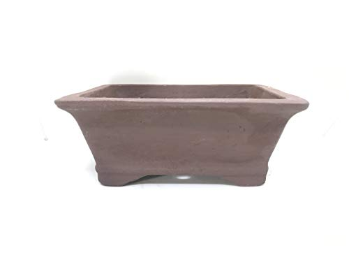 Bonsai Tree Pot Unglazed Earth Brown Rectangle 6""
