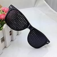 CYNDIE Gafas estenopeicas antifatiga Vision Care Gafas estereoscópicas mejoradas (Negro)