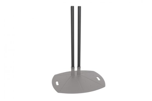 60' Double Pedestal - Extra Dual Poles for Plasma Display Floor Stands Height: 84