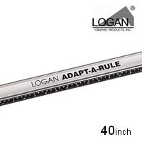 Price comparison product image Logan Graphic Products Inc. Adapt-a-Rule Cutting Guide 40 in. Handheld Mat Cutter and Straight Edge for Matting and Framing