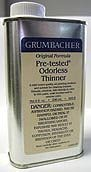 Grumbacher 5658 8-Ounce Pretested Odorless Thinner Can by Grumbacher by Grumbacher