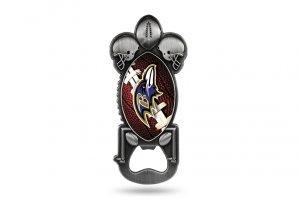 (Rico Industries NFL Baltimore Ravens Magnetic Metal Bottle Opener Party Starter)