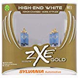 (SYLVANIA - H11 (64211) SilverStar zXe GOLD High Performance Halogen Headlight Bulb - Headlight & Fog Light, Bright White Light Output, Best HID Alternative, Xenon Charged Technology (Contains 2 Bulbs))