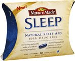 Nature Made Sleep Natural Sleep Aid Liquid Softgels, 30 count (Pack of 3)