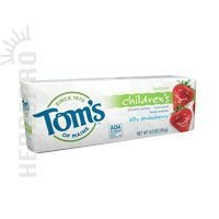 Tom's of Maine Anticavity Fluoride Children's Toothpaste-Silly Strawberry-4.2 oz - Kids Silly Strawberry