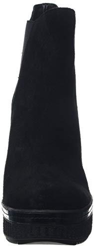 000 Calvin Suede Noir Femme Shanna black Jeans Botines Klein rTwq8r