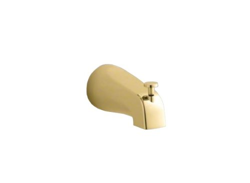 (Kohler K-389-S-PB Devonshire 4-7/16-Inch Diverter Bath Spout, Vibrant Polished)