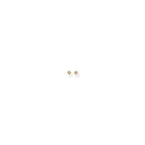 14k Yellow Gold Childs Diamond Stud Earrings. Carat - Children Diamond Earrings