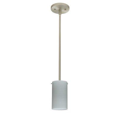 Stilo 1 Light Mini Pendant Bulb Type: LED, Finish: Satin Nickel, Shade Color: Chalk