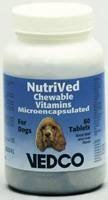 NutriVed Calcium Plus Chewable Vitamins For Dogs - 60 Tablets