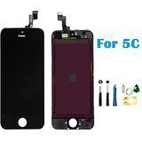 #4: LCD Disply Touch Screen Digitizer Glass Replacement Full Assembly for IPhone 5C Black
