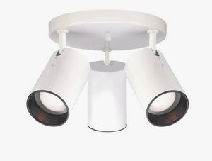 Nuvo Lighting 76/416 Three Light Straight Cylinder Lamp, White - Light Cylinder Fixture Straight