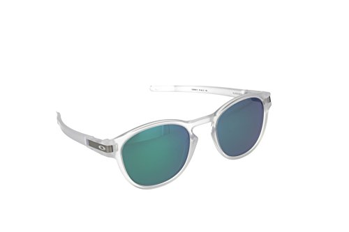 Oakley Mens Latch Sunglasses, Matte Clear/Jade - And White Green Oakley Sunglasses