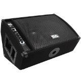 Seismic Audio FL-12MP-PW 300-Watt RMS 2-Way 12-Inch Floor/Stage Monitor Wedge Style with Titanium