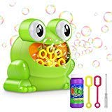 Bubble Machine Automatic Bubble Blower with A Bottle of Normal Bubble Solution Frog Bubble Maker Toys Over 500 Bubbles Per Minute for Kids Gift Parties Wedding, Battery Operated (Not Included)