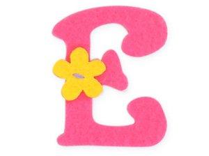 Pink Felt Alphabet Letters Iron On 25mm Motif Girl