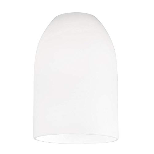 White Dome Glass Shade - Lipless with 1-5/8-Inch Fitter Opening