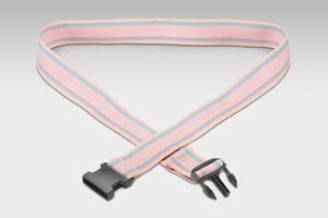 Val Med Medical VM-6570 Comfort Plus Gait Belt, Natural Cotton, Pinstripes and Plastic Buckle, Pastel, 60'' Length (Pack of 36)