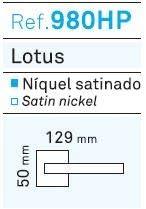 CON PLACA JUEGO MANIVELA MODELO LOTUS NIQUEL SATINADO REF.980HP CON ROSETA CUADRADA O REF 984HP CON PLACA CUADRADA