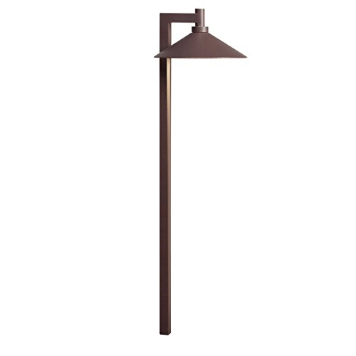 Kichler Lighting 15800AZT Ripley LED 12-volt Path and Spread Landscape Light, Textured Architectural Bronze (Textured Architectural Bronze Line)