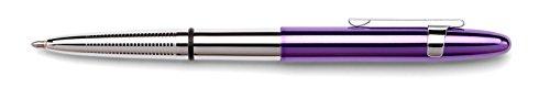 Fisher Space Pen Removable Clip Ballpoint Pen, Purple Cap with Chrome Barrel (Finger Grip (400PPC-CL) -