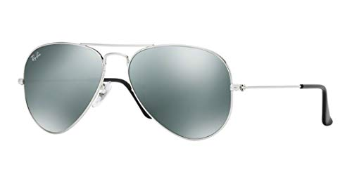 Ray Ban RB3025 W3275 55M Silver/ Gray Mirror Aviator