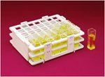 Bel-Art F18520-0000 No-Wire Cuvette Rack; For 10mm Cuvettes, 42 Places