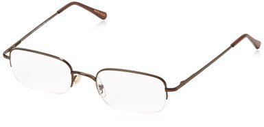 Simply Specs Foster Grant Harrison Men's Brown Semi-Rimless Readers - Specs Rimless