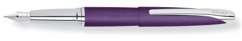 Cross ATX Victoria Purple Fountain Pen with Stainless Steel Nib - Medium (Cross Atx Collection)