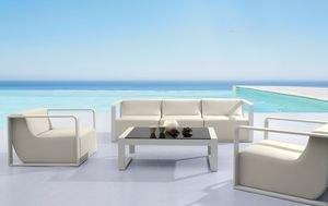 Salon de jardin haut de gamme Capri coloris écru, modulable: Amazon ...
