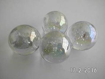 transparent Glaskugel 105000 Gaide und Petersen 3 Murmeln Seifenblase Klar gl/änzend 42mm Kugel aus Glas