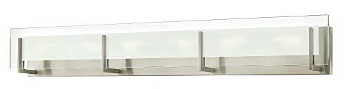 Hinkley 5656BN Latitude - Six Light Bath Vanity, Brushed Nickel Finish with Clear Beveled/Etched Glass (Hinkley Latitude)