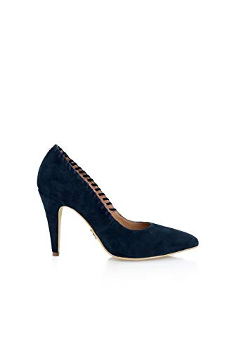 Punto De Salsa Zapato Manual Mujer Con Detalle Jeans Azul qwxBtI1g