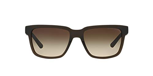 - Armani Exchange Men's Injected Man Sunglass Square Transparent/Matte Dark Olive, 56 mm