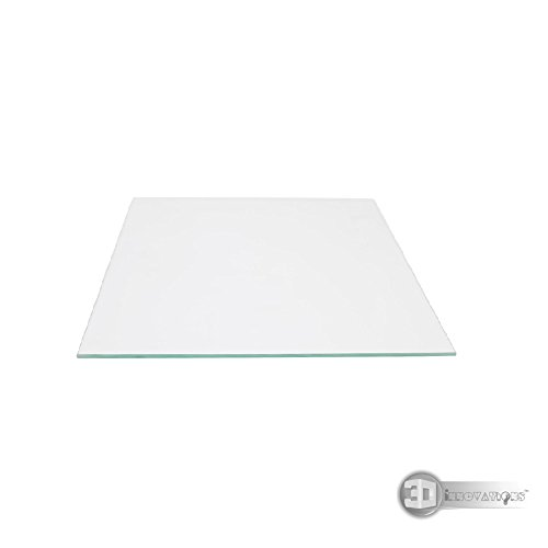 3D Innovations MK2 Heated Bed Borosilicate Glass Plate Size 213X200X3mm Tempered /1Pc Glass Plate Only For 3D Printer