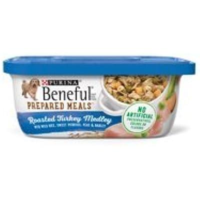 6 Tubs of Purina Beneful Prepared Meals Roasted Turkey Medley with Wild Rice, Sweet Potatoes, Peas & Barley Adult Wet Dog Food - 10 oz. ea
